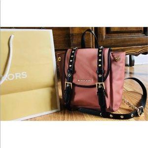 $228 Michael Kors Leila Backpack Handbag MK Bag